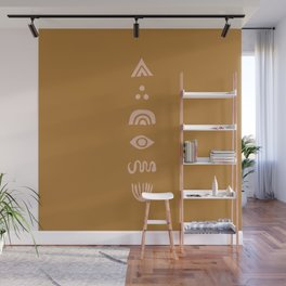 The Dreaming (mustard) Wall Mural