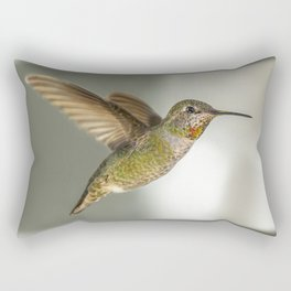 Female Hummingbird Rectangular Pillow