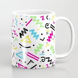 Retro 80's 90's Neon Pink Green Blue Yellow Doodle Coffee Mug