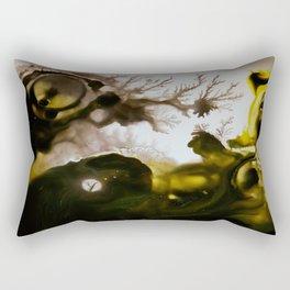 Alien embryo, acrylic on canvas Rectangular Pillow