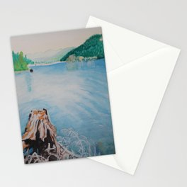 Oakridge Reservoir #4 watercolor painting Stationery Cards