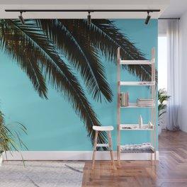 Palm Tree Blue Sky Wall Mural
