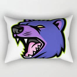 Tasmanian Devil Head Mascot Rectangular Pillow