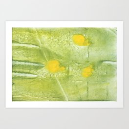 Yellow-green abstract painting Art Print