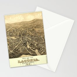 Bird's Eye View of Laconia, New Hampshire (1883) Stationery Cards