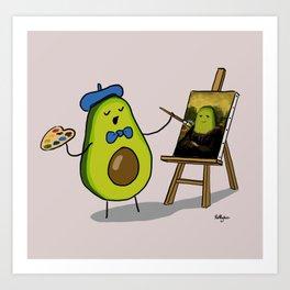 Leonardo d'Avocado Art Print