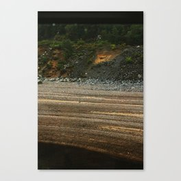 From a Moving Train (Sediment) Canvas Print