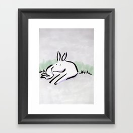 Donkey lying Framed Art Print