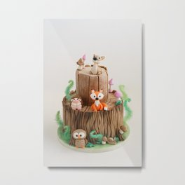 Enchanted forest cake Metal Print
