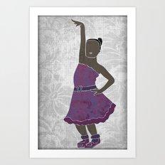 Children dancing 4 Art Print
