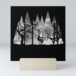MTB Black Trees Mini Art Print