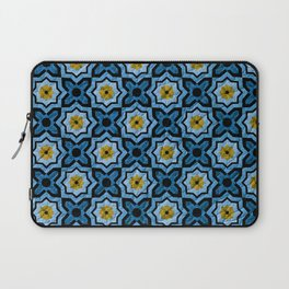 V6 Blue Traditional Moroccan Natural Leather - A4 Laptop Sleeve
