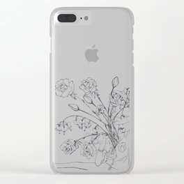 Pick Your Brain Clear iPhone Case