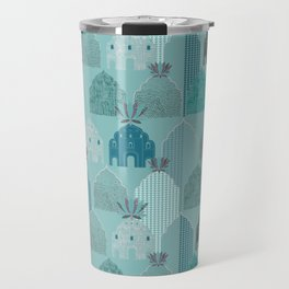 Art Deco in blue Travel Mug