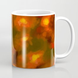 Glowing Ember Floral Abstract Coffee Mug