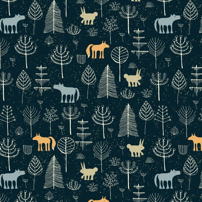 Magic Storybook Northwest Forest Pattern Comforters