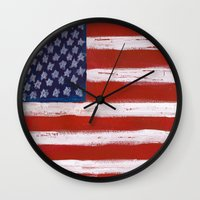 Wave the Flag Wall Clock