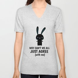 Rechthaber Hare smartass alls gift Unisex V-Neck
