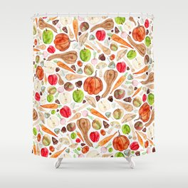 Fruit and Vegetables  Shower Curtain