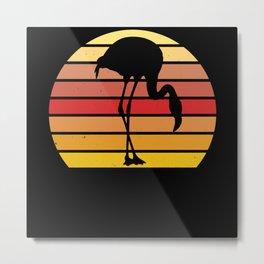 Retro Flamingo Gift for Flamingo Lover Metal Print