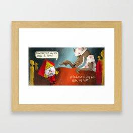Little Red Riding Hood - Pg 5 Framed Art Print