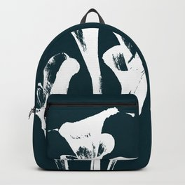 Calla Lily - Navy Backpack