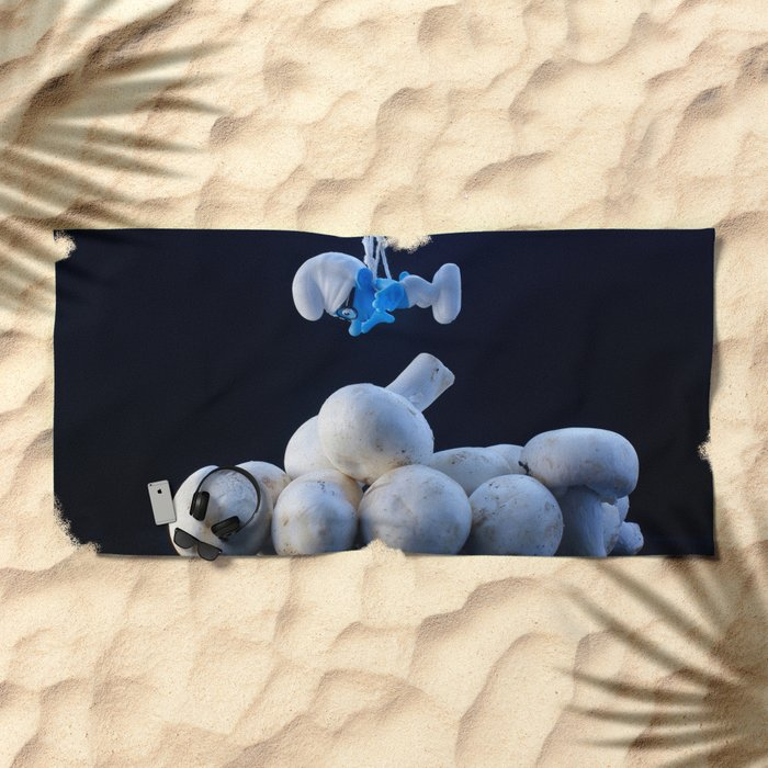 The Smurfs Movie Beach Towel