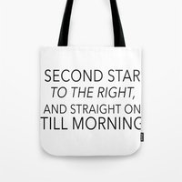 neverland Tote Bags featuring NEVERLAND by Word with Friends