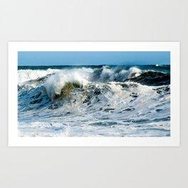 Waves at Cape Palliser, New Zealand Art Print