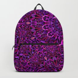 Pretty Purple Mandala Garden Backpack