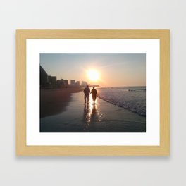 Lovers At Dawn Framed Art Print