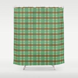 Love Plaid - Chocolate Mint Shower Curtain
