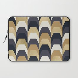 Stacks of Gold and Navy Laptop Sleeve