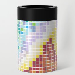 Pixelated Nebula Red Can Cooler
