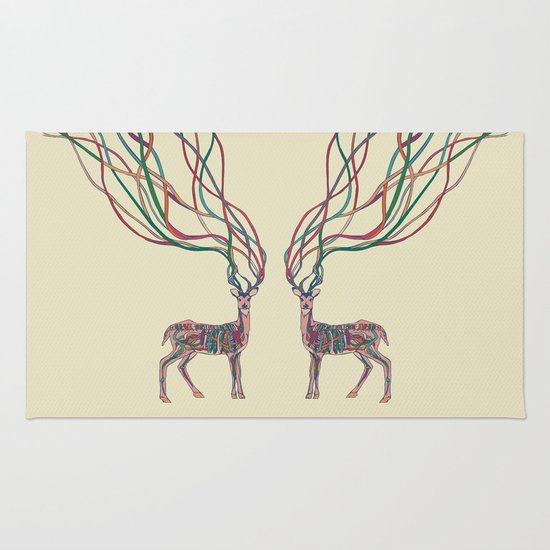 Deer Ribbons Rug