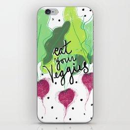 Eat Your Veggies iPhone Skin