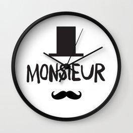 French Man Wall Clock