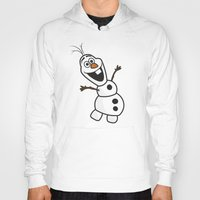 olaf Hoodies featuring Olaf by Mark Carrione Graphics