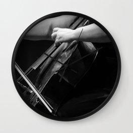 Hands of a Cellist Wall Clock
