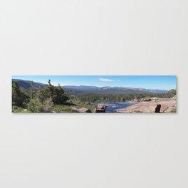 Uinta Mountain Water Drop Canvas Print