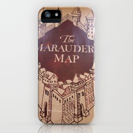 The Marauders Map iPhone Case