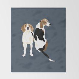 Gracie and Greta tree walker coonhounds Throw Blanket