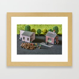 The Little Millers Coffee Corporation Framed Art Print