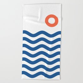 Nautical 02 Seascape Beach Towel