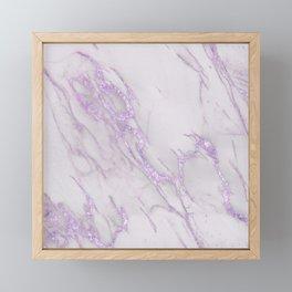 Marble Love Purple Metallic Framed Mini Art Print