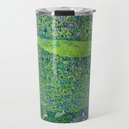 Klimt - Litzlberg on the Attersee (new editing) Travel Mug