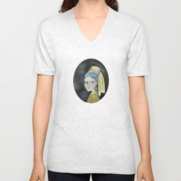 Girl with the Pearl Earring Unisex V-Neck