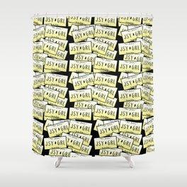 Jersey Girl NJ License Plate Shower Curtain