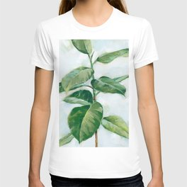 Houseplant Painting of Rubber Tree T-shirt