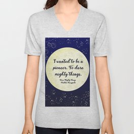 To Dare Mighty Things Unisex V-Neck